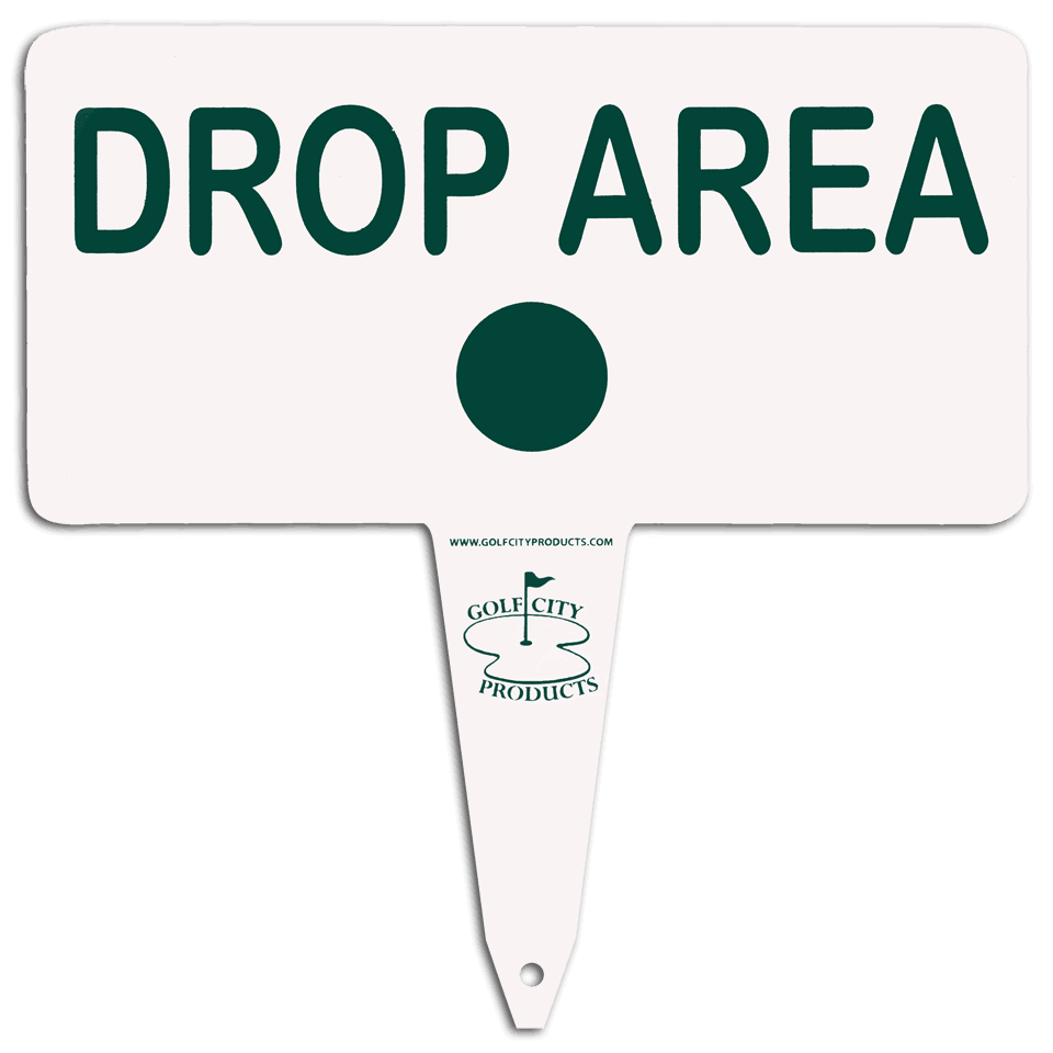 Aluminum 'drop area' sign