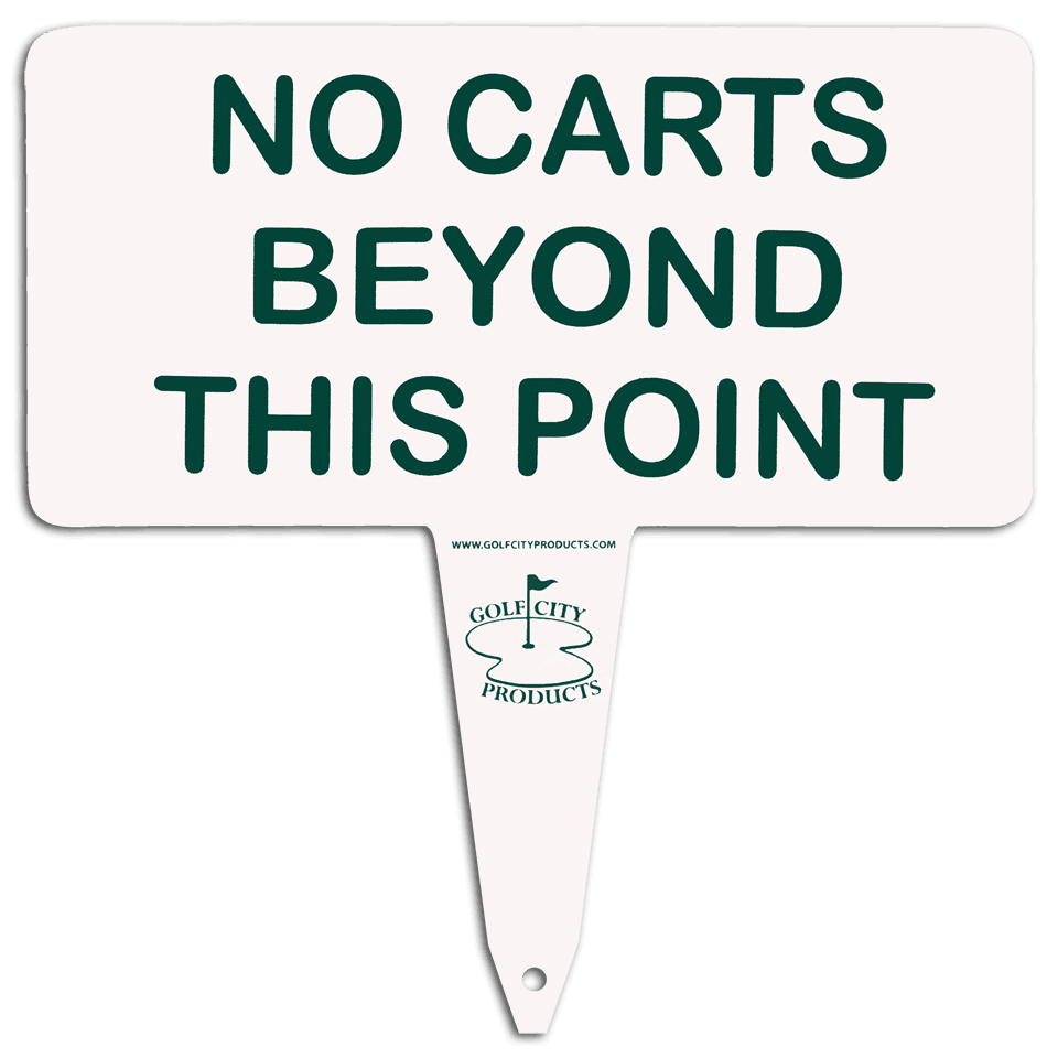 Aluminum 'no carts' sign