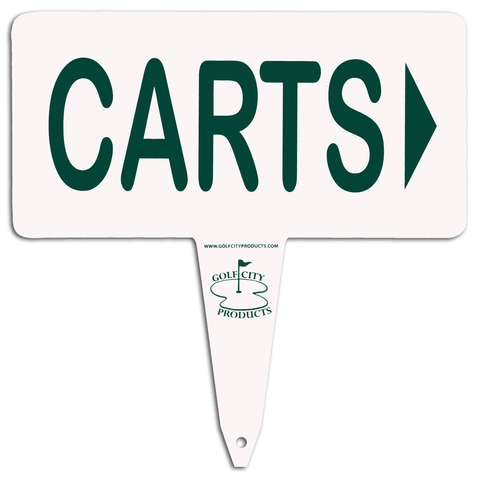 Aluminum 'carts' sign