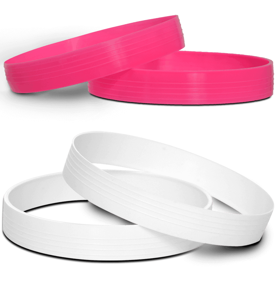 Hole marker rings are available in both white and pink.